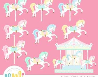 Enchanted Carousel Clipart
