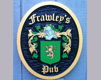 Family Crest /  Historic Coat of Arms - Carved and made to order