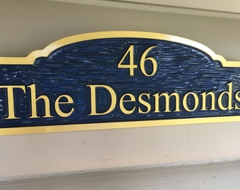 Unique Custom Signs - House Number Signs - Custom Carved Address Signs - weatherproof