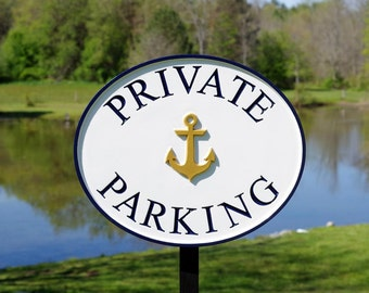 Parking Lot Signs with image - Customized for Business - Carved