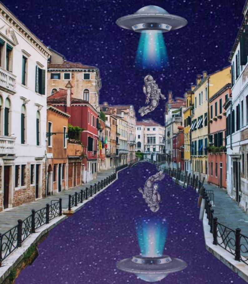 Earthly EscapeFine Art PrintWall DecorDigital CollageSpace