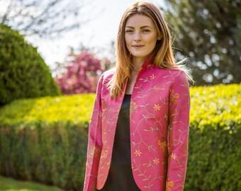 Wilde Orchidee Rohseide Damen Blazer Smart Womens Jacke | Etsy