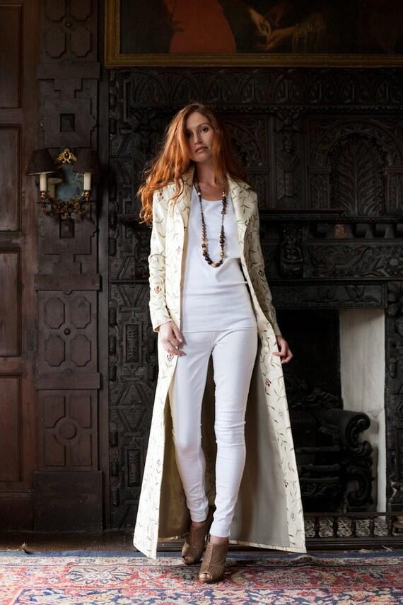 Silk Gown Coat Bride Jacket Ivory White Cashmere   Etsy