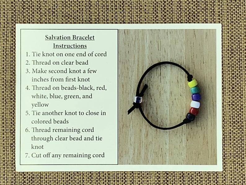 7ca651808cbbc Salvation Bracelet | Salvation Bracelet Craft Kits | Gospel Bracelet |  Colors of Faith