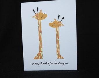 Giraffe card for Mom