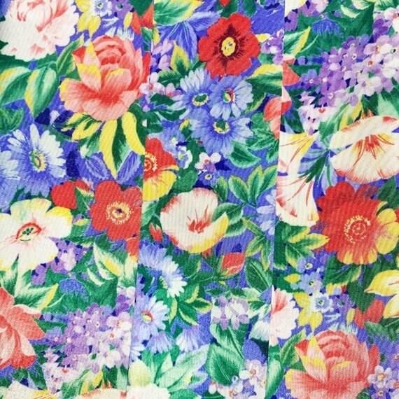 Vintage Cottagecore Floral Pleated Skirt - image 2