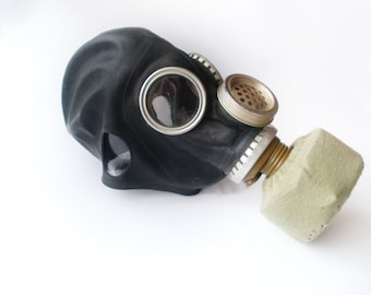 new black gas mask halloween mask soviet military black and khaki gas mask scary mask gift idea steampunk mask halloween costume element