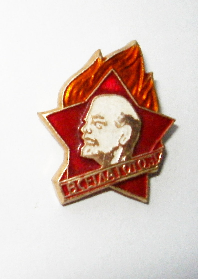 Soviet Pin Young Pioneers badge USSR era Soviet collectible Ussr pin Russian school