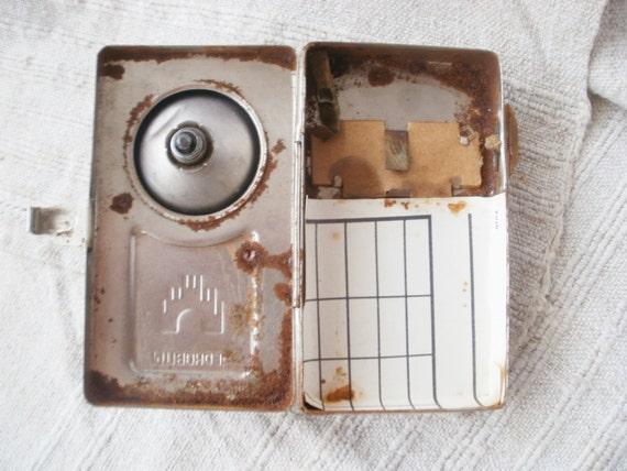 Vintage Metal Torche Lampe De Poche Ancienne Photo Prop Decor