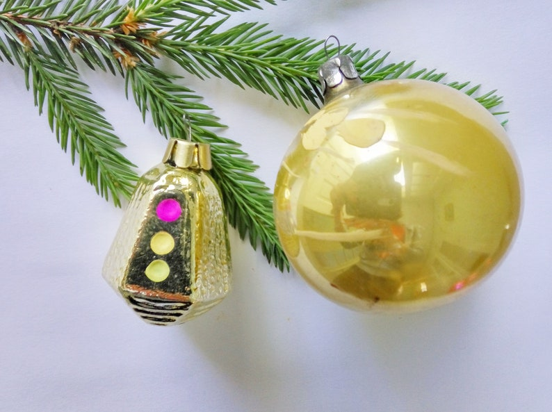 Old Christmas Decorations.Old Christmas Ornaments Set Of 2 Christmas Tree Decorations Glass Ornament Russian Christmas Gifts Gift For Kids Soviet Xmas Pair Of Baubles
