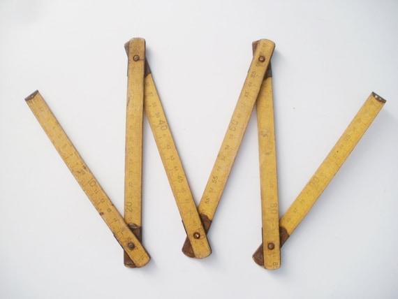 Règle en bois long b ton de mesure bébé photo prop ancienne règle