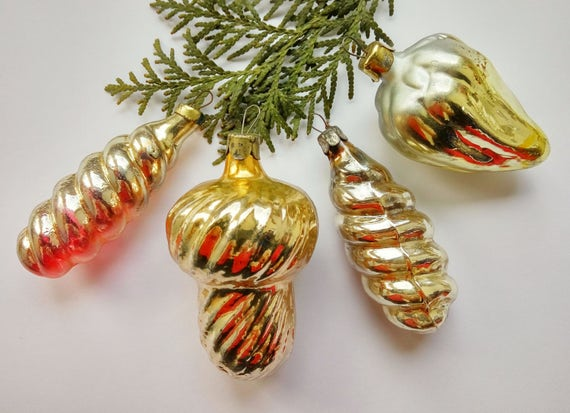 image 0 - 1960s Christmas Decorations Rare Christmas Ornaments Shabby Etsy