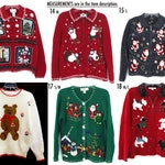 Vintage Ugly Christmas sweater You Pick 80s 90s xmas sweatshirt men's women's all sizes