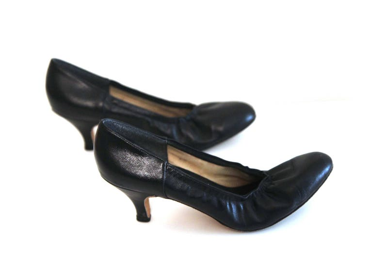 Vintage 80er Jahre Schuhe Pumps Leder Pumpen Party Kleid