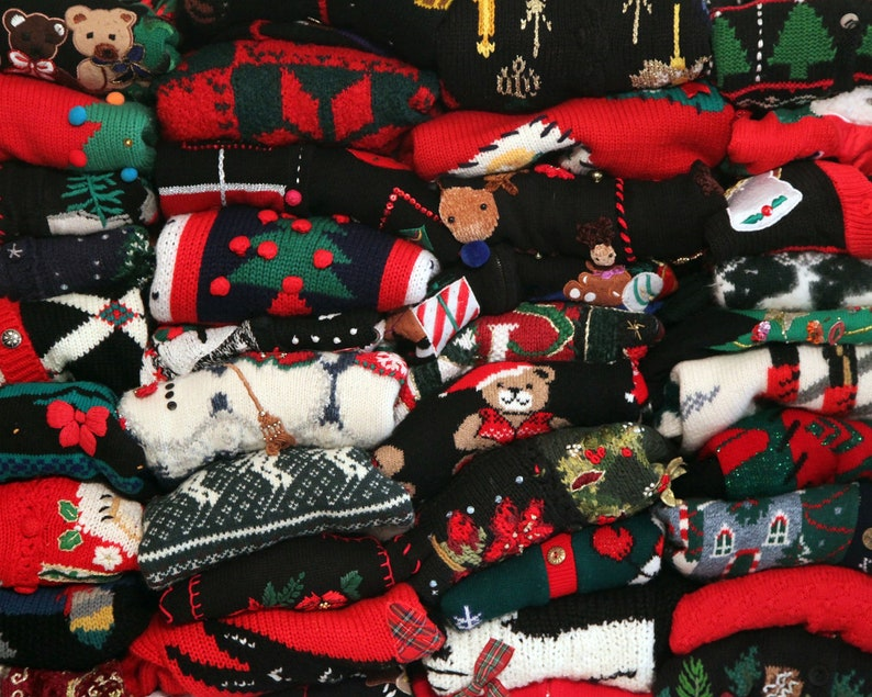 Vintage Ugly Christmas sweater You Pick 80s 90s xmas 55.