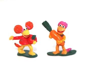 Vintage 80s Fraggle rock pvc figures set of 2 under 3 toys mcdonalds happy meal
