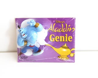 Vintage 90s Aladdin Genie figure pvc toy Disney applause sealed in package