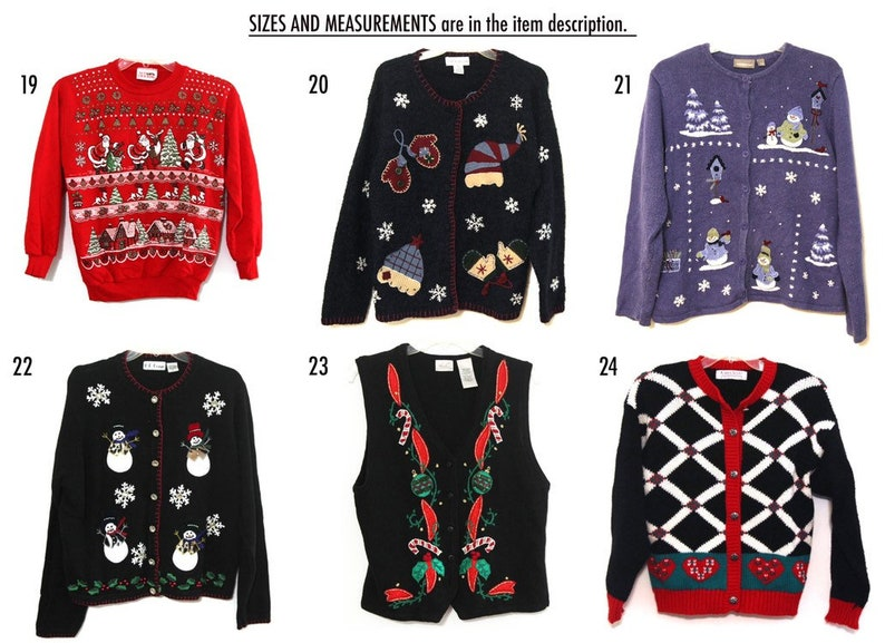 Vintage Ugly Christmas sweater You Pick 80s 90s xmas  c53f9ac62