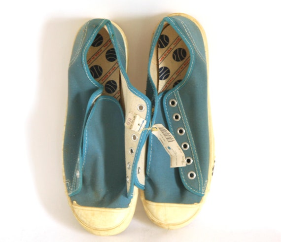Vintage 60s Canvas tennis shoes Woolworth mens 5.5
