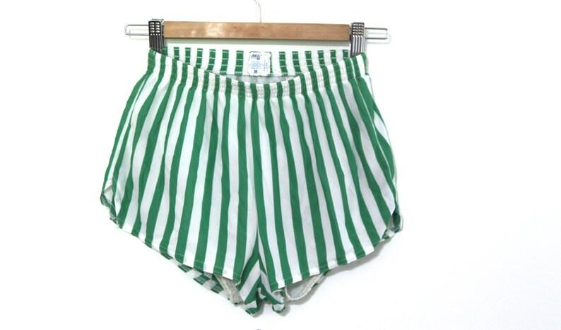 short année 80 rayures vert vintage