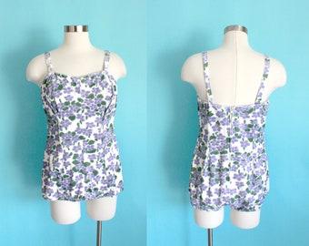 1950s Floral Swimsuit by Jantzen | Medium to Large