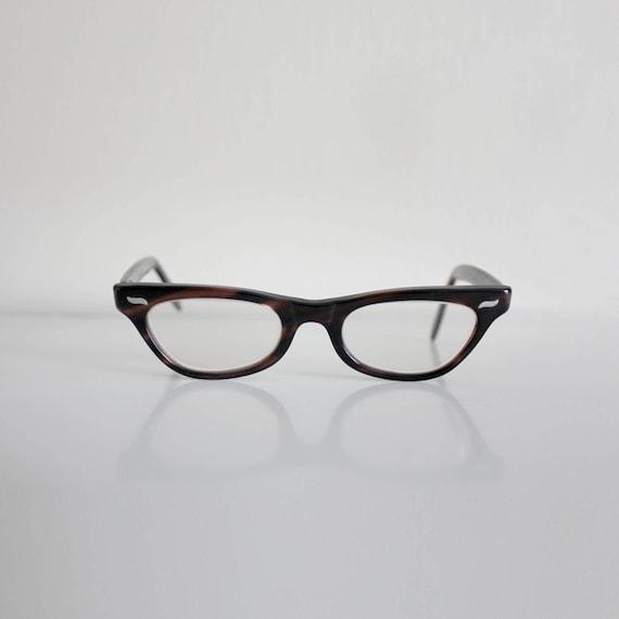 1960s Eyeglasses | Mod Eyewear | Brown Glasses | 1