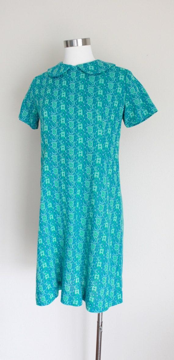 "1960s Wool Peter Pan Collar Dress   34"" inch waist - image 4"