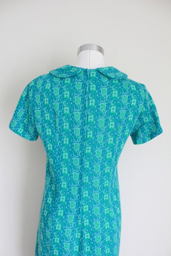 "1960s Wool Peter Pan Collar Dress   34"" inch waist - image 7"