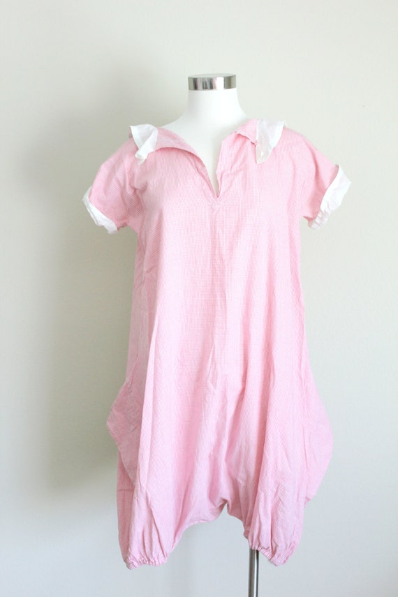 1930s Playsuit | Pink Gingham Romper | Small - image 2