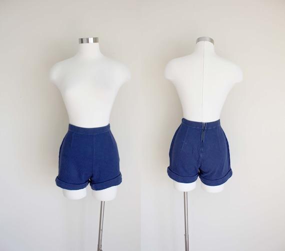 1960s Navy Knit Shorts by Koret of California