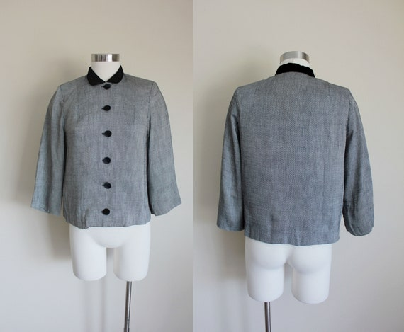 1950s Velvet Trim Jacket by Youth Guild New York |