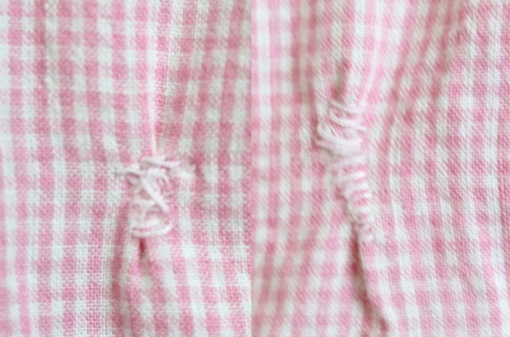 1930s Playsuit | Pink Gingham Romper | Small - image 5