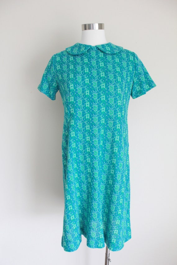 "1960s Wool Peter Pan Collar Dress   34"" inch waist - image 2"