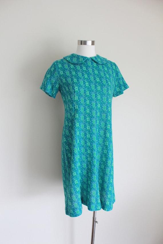 "1960s Wool Peter Pan Collar Dress   34"" inch waist - image 3"