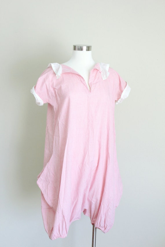 1930s Playsuit | Pink Gingham Romper | Small - image 4