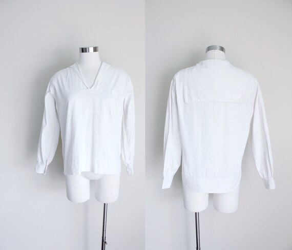 1920s White Middy Blouse by Man-o-War | White Sail