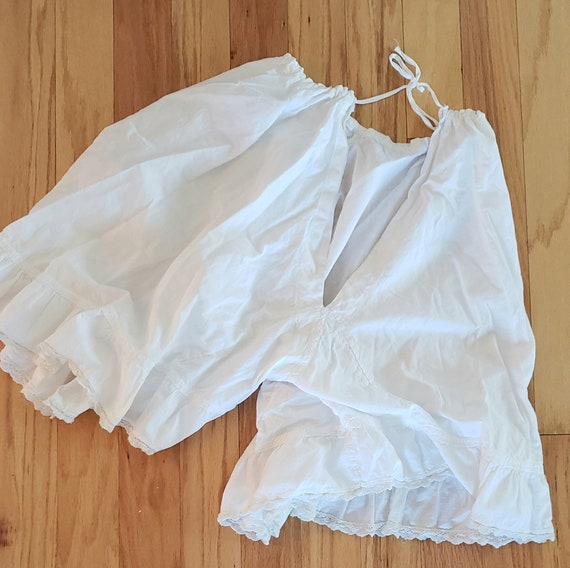 Antique White Cotton Victorian Pantaloons Bloomers