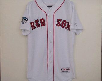 83040eddc BOSTON RED SOX Shirt World Series Majestic Baseball Jersey Size 40