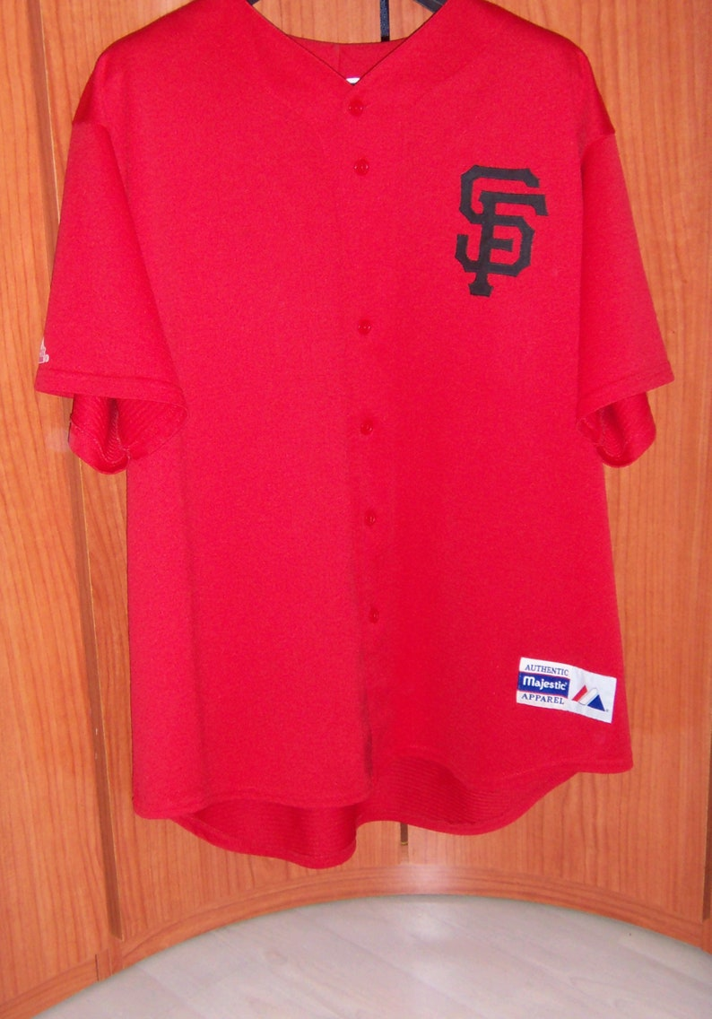 superior quality d7658 8a52c San Francisco GIANTS Baseball SF Shirt/Jersey Red Majestic Size XXL