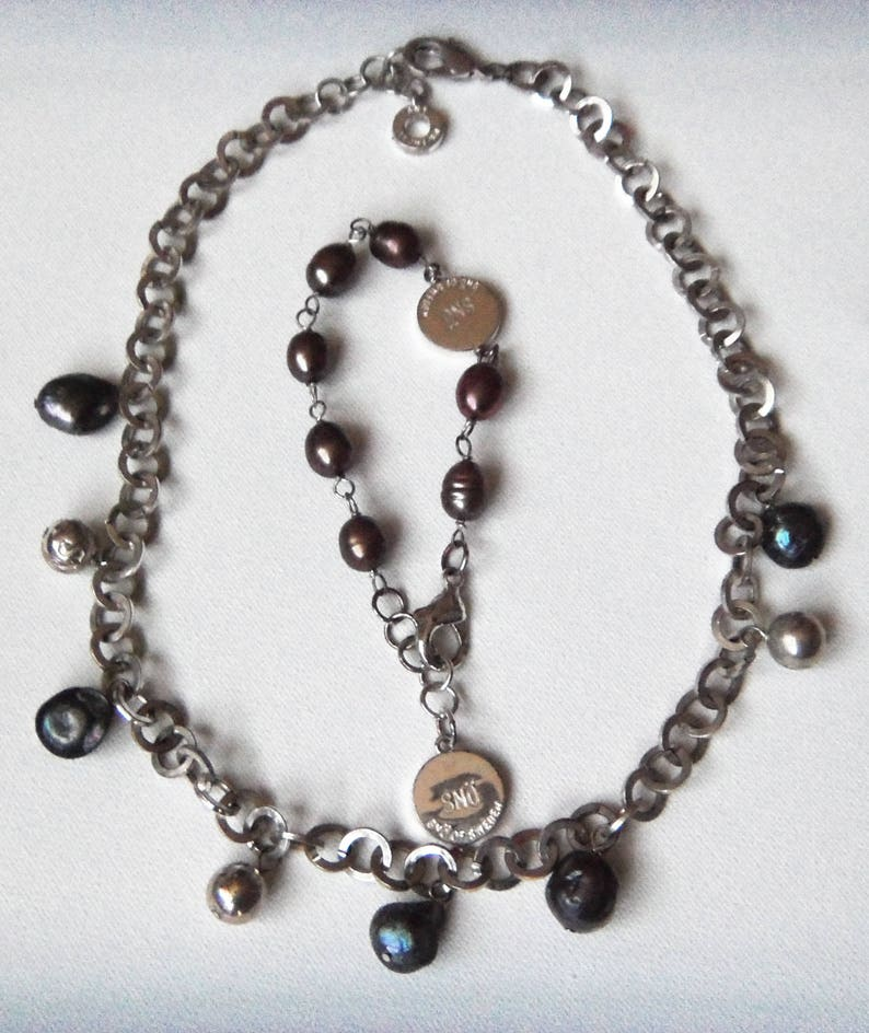 Sno of Sweden Jewelry Set of 2 Choker   Bracelet Swedish  a6d0c198ed763
