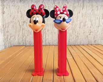 Pair PEZ Dispenser MINNIE MOUSE, Collectibles Candy Dispensers