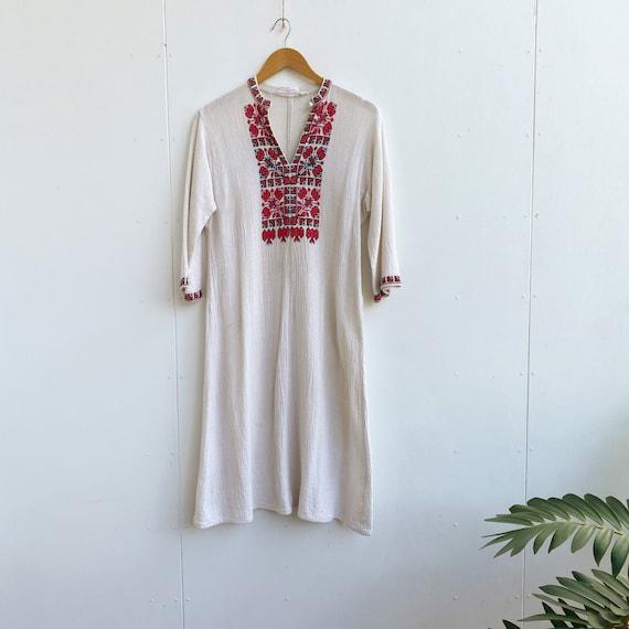 1960s folk embroidered cotton   Tunic by Naronda R