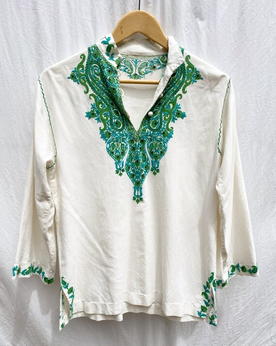 1970s Kashmir embroidered tunic