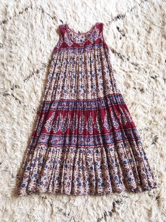 Indian  cotton  gauze  dress