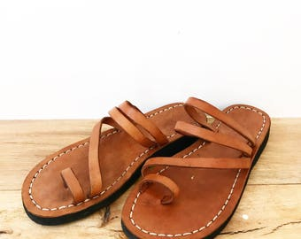 Handmade leather sandals 6