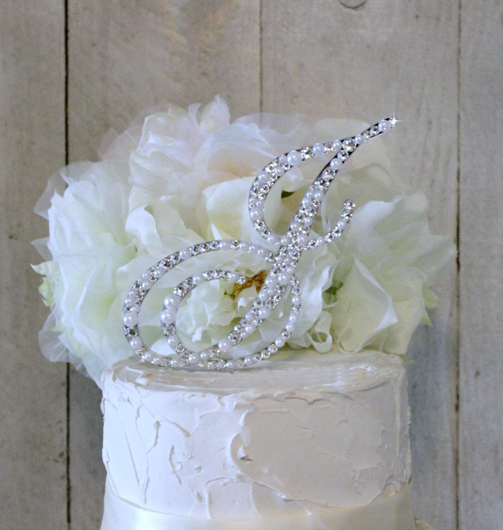 Crystal Wedding Cake Toppers