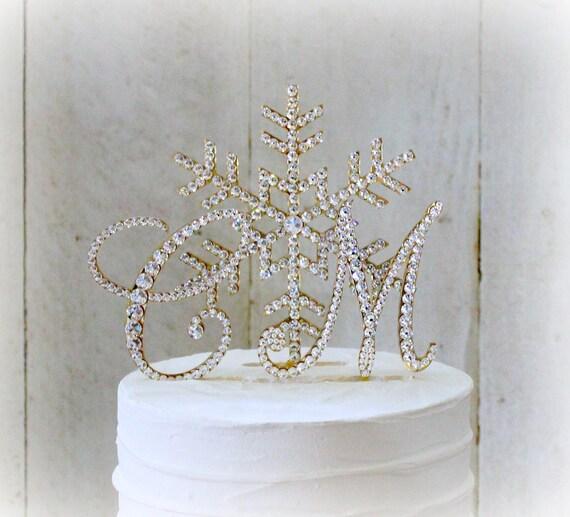 Snowflake Wedding Cake Toppers Winter Wonderland Cake Topper | Etsy