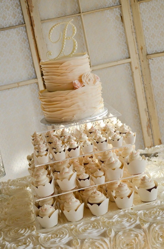 Pearl Wedding Cake Topper Pearl Monogram Cake Vintage Wedding Cake Toppers Romantic Wedding Cake Topper Pearl Initial Letters A Z