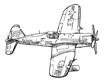 Avion vintage de style biplan lencre de dessin clipart - Dessin avion stylise ...
