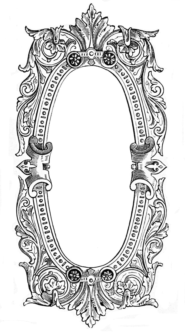 Vintage ink plate french filigree frame baroque and very   Etsy